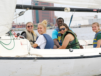 Stevenson Scholars Students on Boat