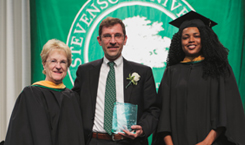 Alumni Award winners at commencement